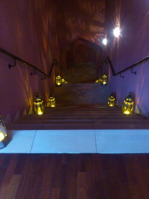 Beleuchtete Treppe (1 von 1)