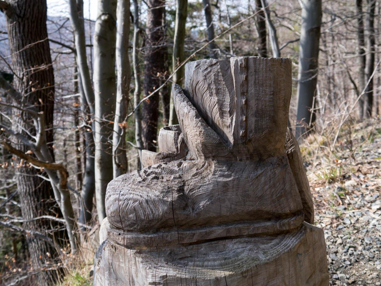 Wanderschuh aus Holz (1 von 1)