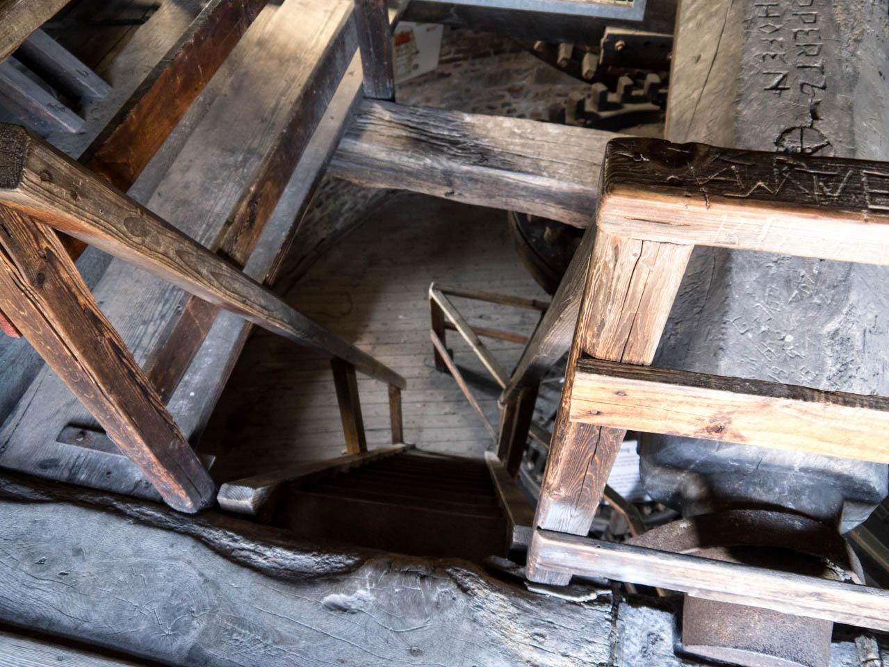 steile Treppen in der Mühle (1 von 1)