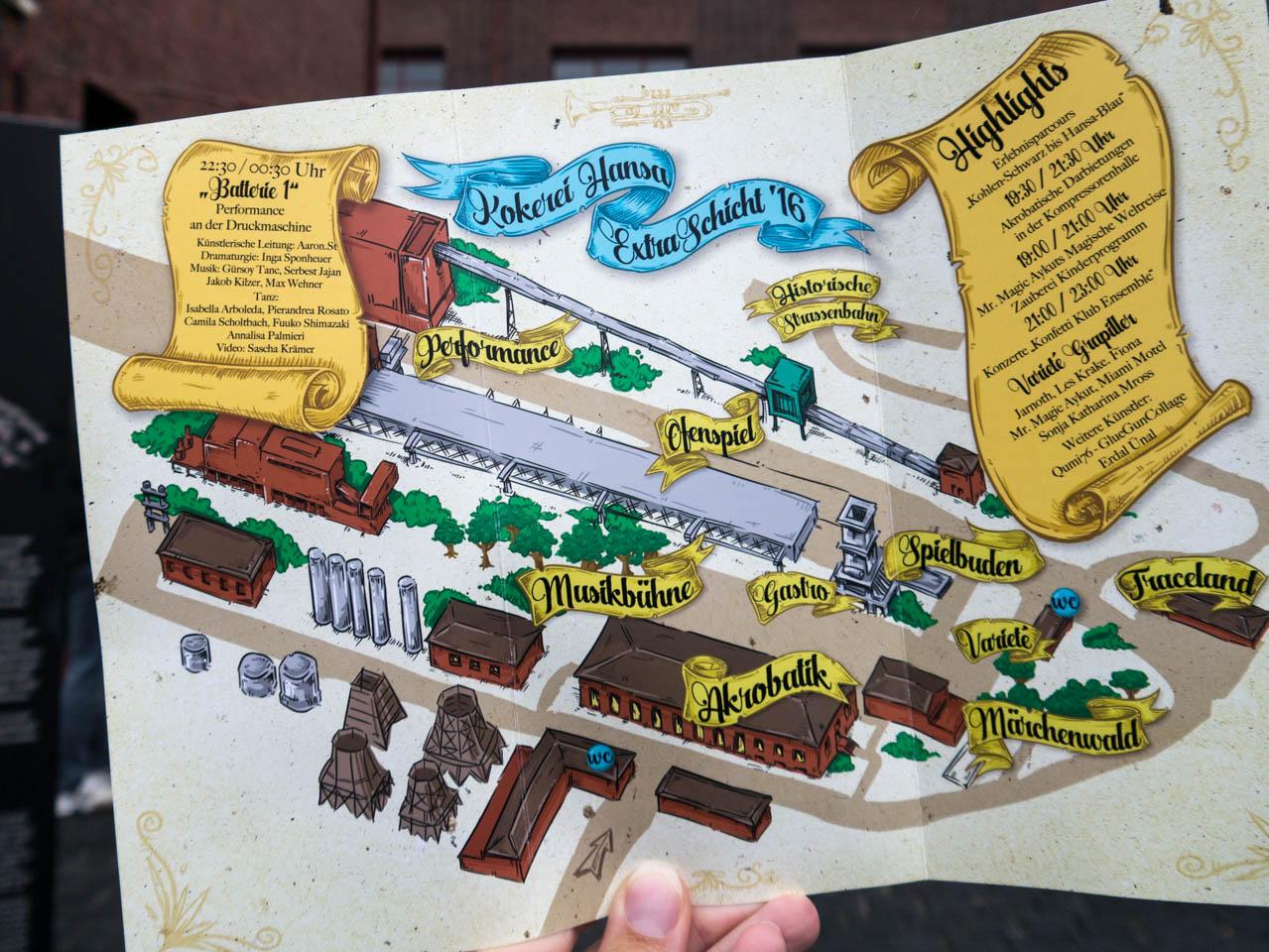 Plan der Kokerei Hansa (1 von 1)
